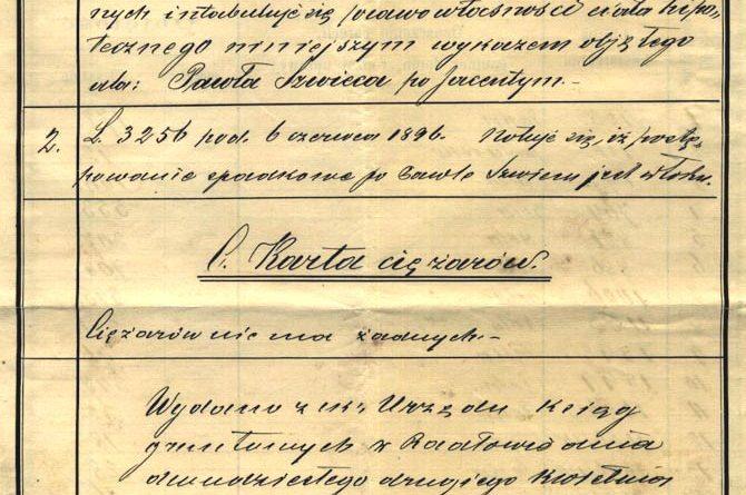 Dokumenty z XIX wieku